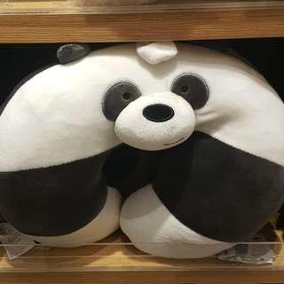 🚚 預購MINISO名創優品熊熊遇見你WE BARE BERAS咱們裸熊panda胖達U型枕頸枕午睡枕