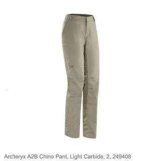 BN ARC'TERYX A2B Women's Chino Pants Light Carbide (Size 8)