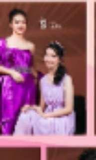 bridesmaid dress/ purple party dress / bridesmaid gown / gaun pesta long dress