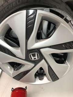 "Honda steel wheel 15"" Half cap"