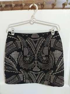 Black n Gold Skirt