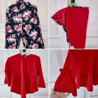 Set kulot dan blouse anak