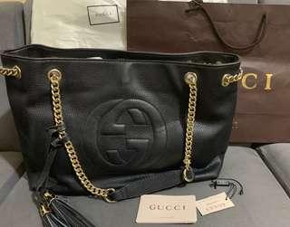 eec082e6346 Preloved Gucci Soho Tassel Leather w  Chain Shoulder Bag