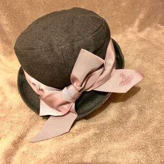 日版Vivienne Westwood黑色牛仔蝴蝶帽