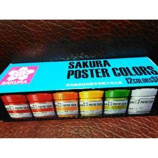 日本櫻花廣告顏料 / 顏料已乾原價 5 0 0 元