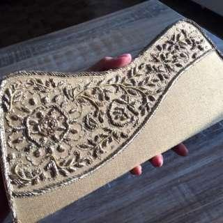Beautiful special occasion gold clutch on sale!