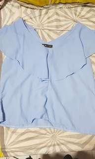 🚚 Blue sleeveless top