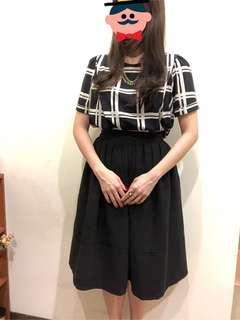 🚚 正韓 Gmarket 黑色修身氣質大圓裙 A字裙