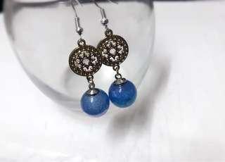 藍星球耳環