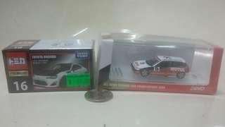 豐田,本田 模型跑車两小盒