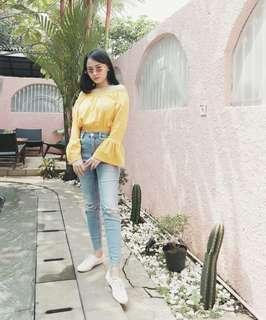 Yellow Sabrina Top