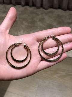🚚 同心圓耳環