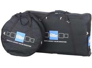 Chain reaction cycles complete Bike & wheelset bags-crc logo  3 times use almost new.