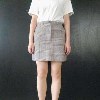 🚚 (免運)復古格紋短裙