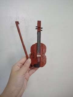 🚚 冰棒棍小提琴擺飾