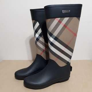 Burberry Womens Clemence Rain Boots Size 39