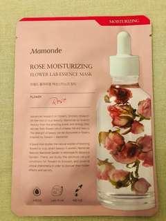 Mamonde facial mask 10 pieces , Rose moisturizing