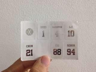 Sticker exo lightstick (official)