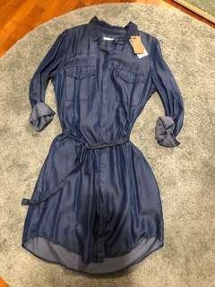 MNG Mango Denim Shirt Dress