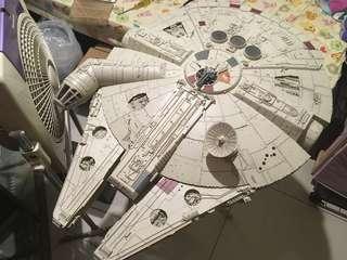 Star War 1/43 超大千歲鷹 (已砌)