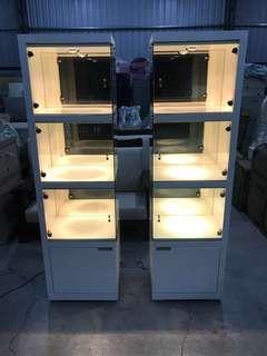 白色烤漆玻璃展示櫃 酒櫃