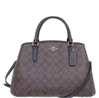 🚚 Coach Small Margot Carryall In Signature Crossbody Bag Shoulder Bag Gold / Brown / Black