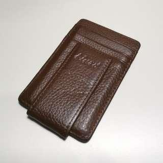 Dompet Kulit asli - Slim leather wallet Kinzd import