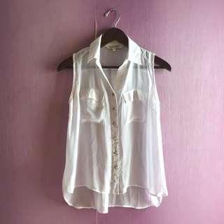 Colorbox White Sleeveless Shirt