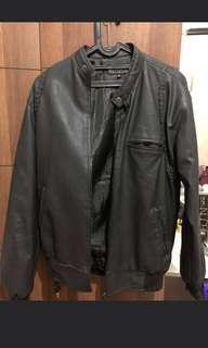Jaket kulit /leather jacket zenith size xL