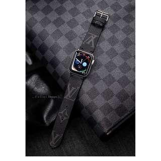 Apple Watch Band Series 4 Band 44mm 40mm | LV Apple Watch Band Louis Vuitton iwatch Band LV | Monogram Watch Band | iwatch Series 4 Band