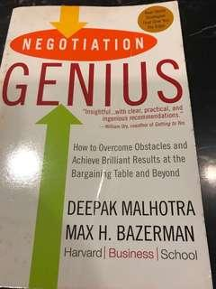 Negotiation Genius : How to Overcome Obstacles and Achieve Brilliant Results at the Bargaining Table and Beyond (Harvard Business School)