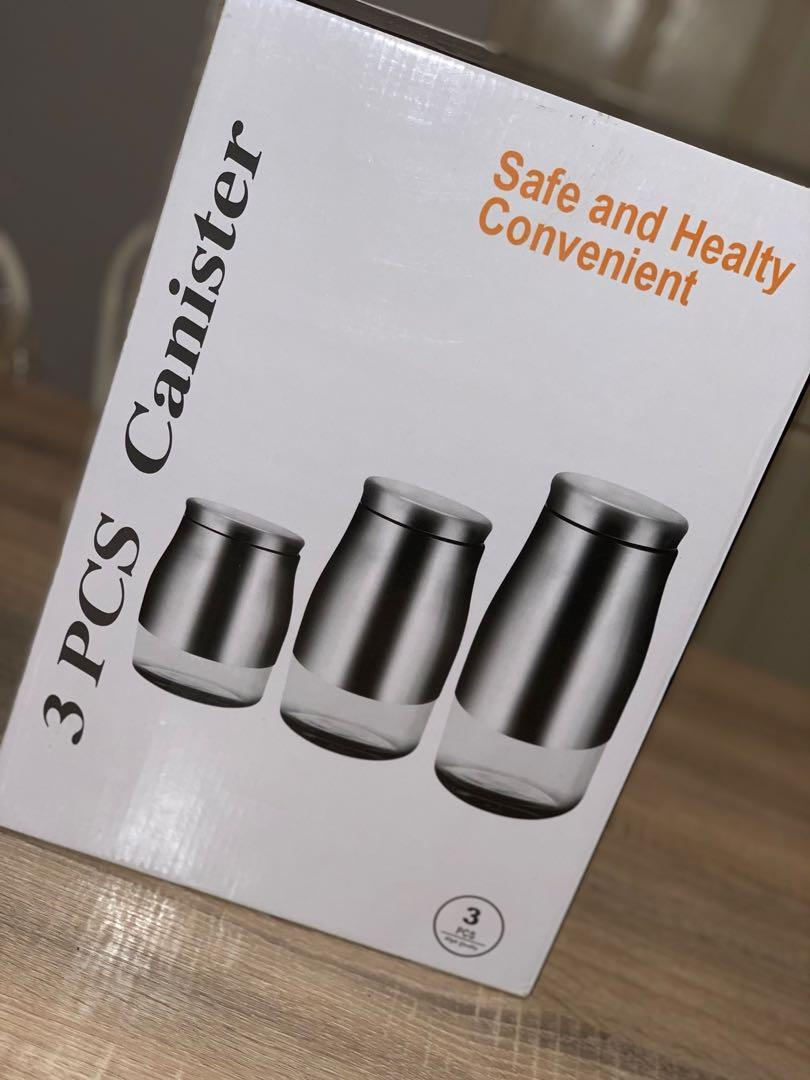 3 pcs canister