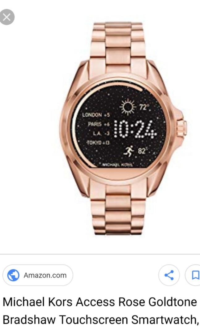 0fcd239f16a4  600 Michael Kors Bradshaw ROSE GOLD smartwatch MK watch