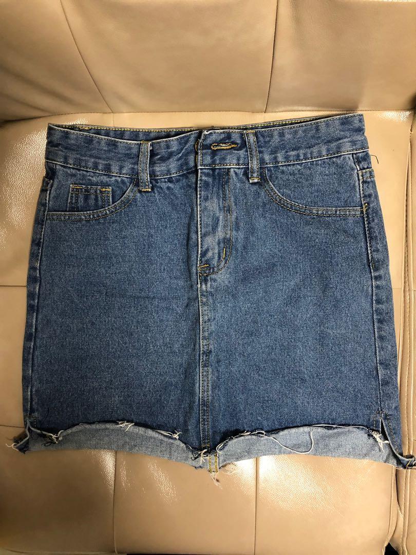 牛仔短裙 99% new