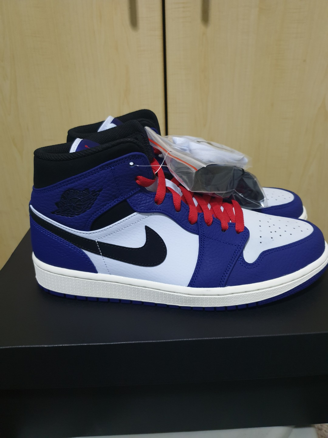 83c3a209cc1 Air Jordan 1 mid, Men's Fashion, Footwear, Sneakers on Carousell