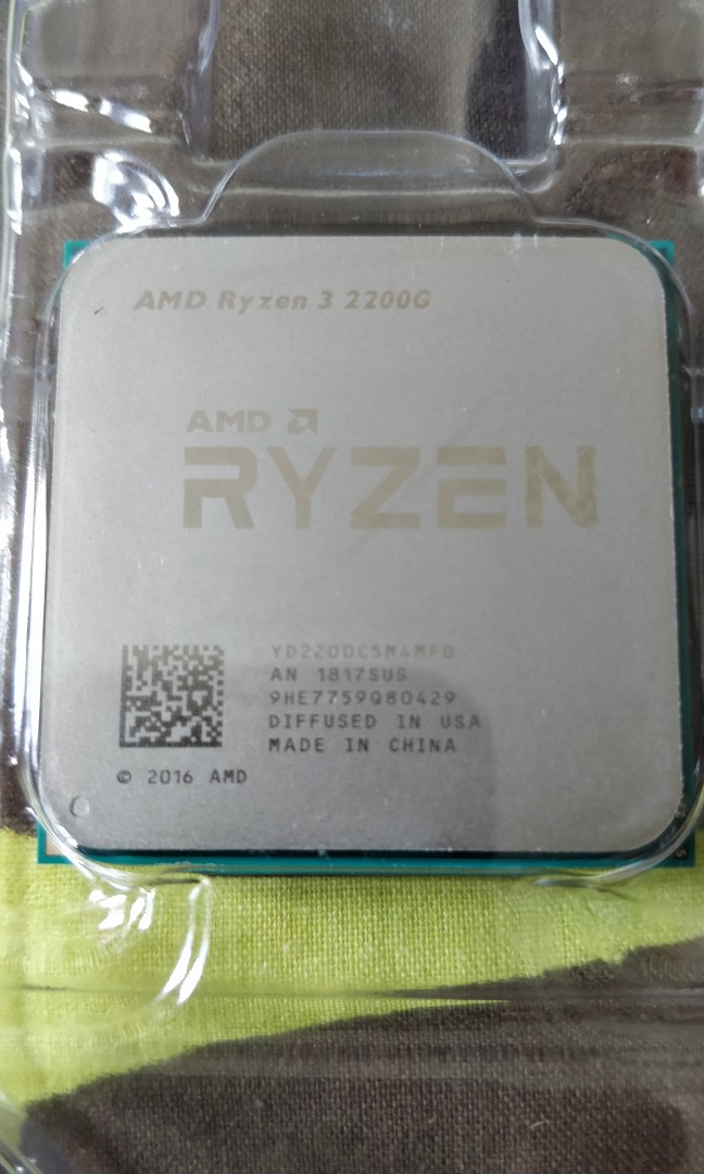 AMD Ryzen 3 2200G with Stealth Cooler