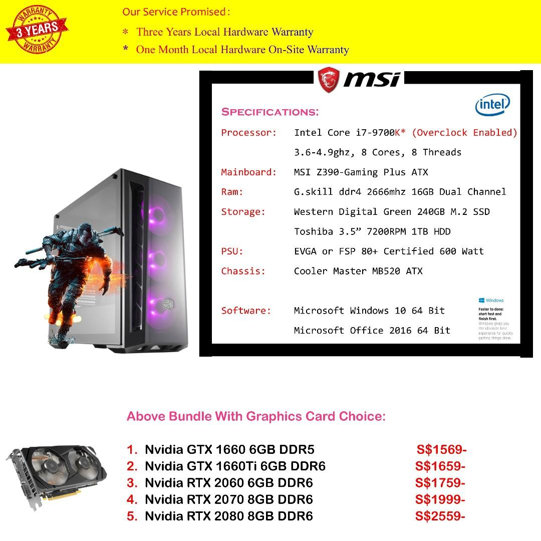 April Promotion* Gaming/Video Rendering/Professional Use PC