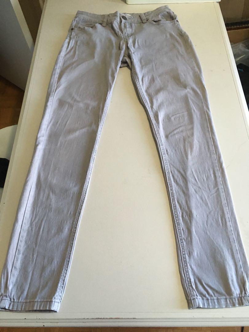 Ardene Denim Grey Skinny Jeans Size 5