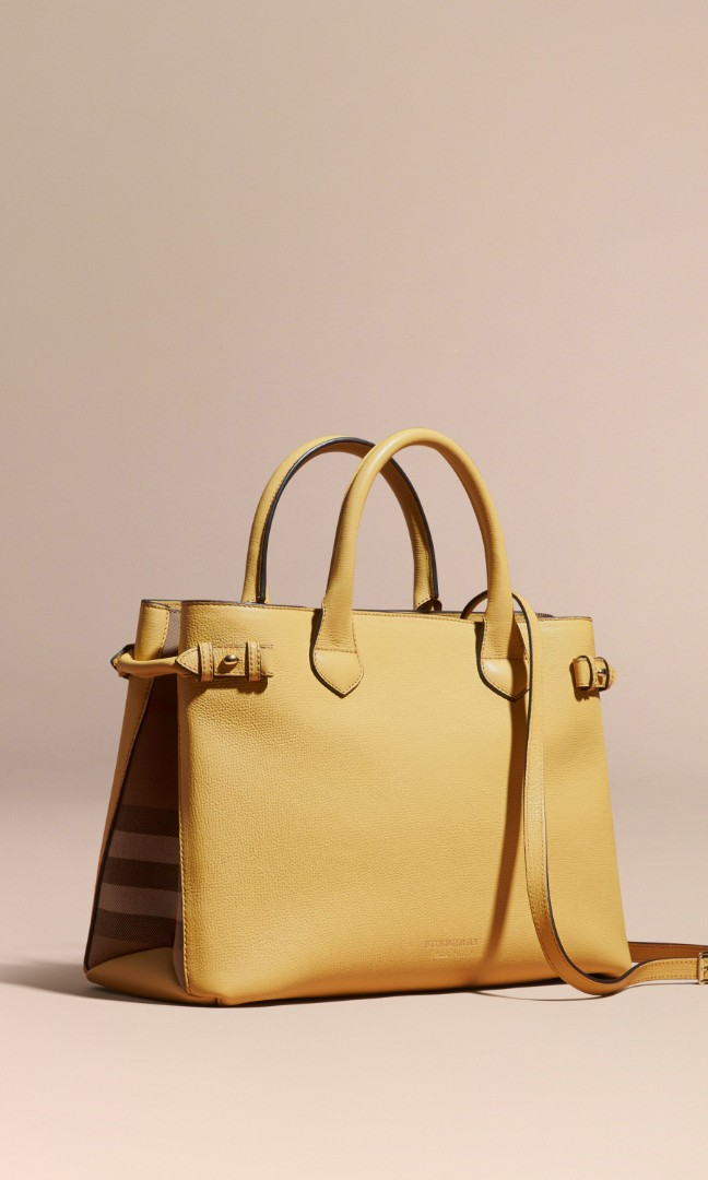 b8b486cc12 Bnwt Authentic Burberry Derby Leather House Check Banner Bag, Luxury, Bags  & Wallets, Handbags on Carousell