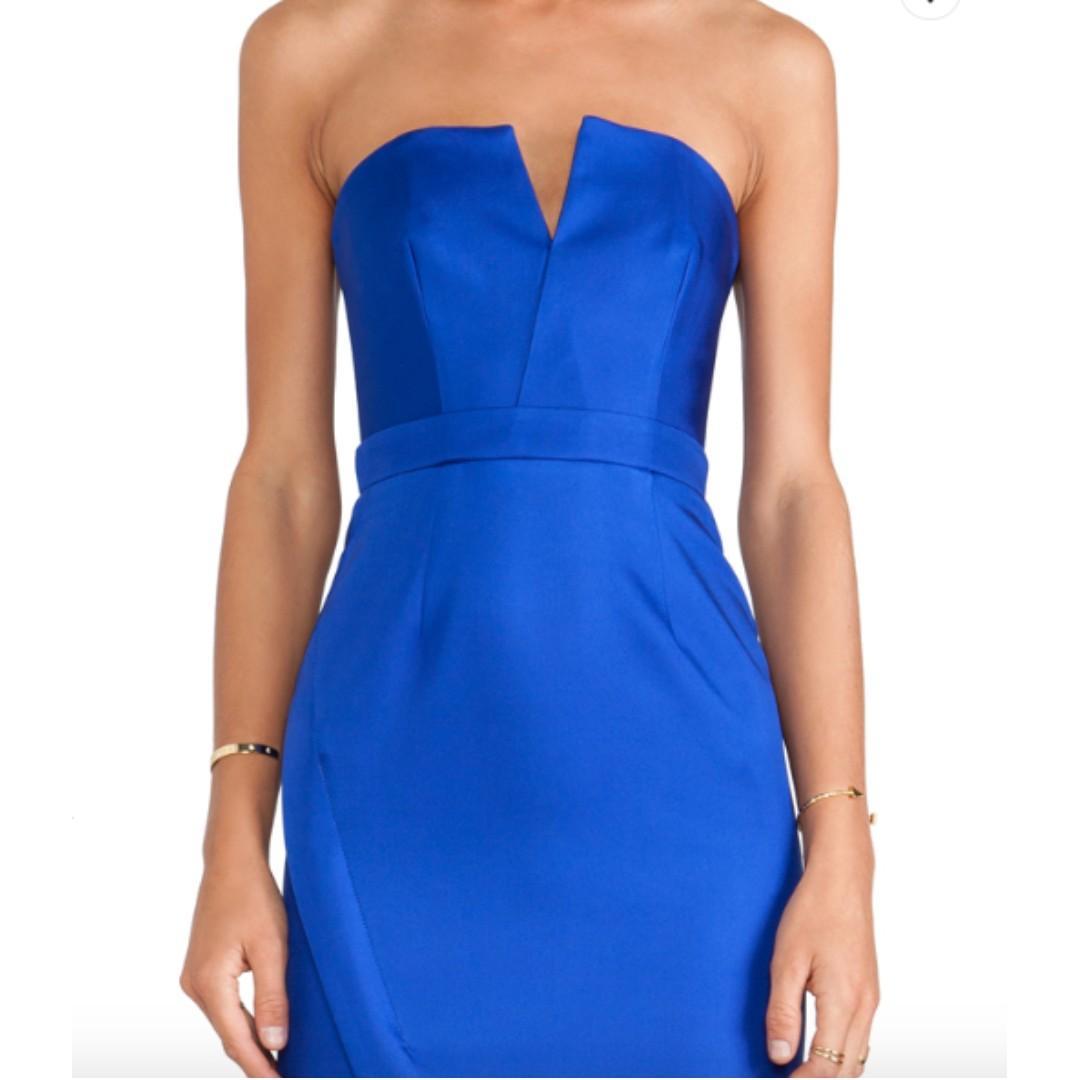 Nicholas Bonded Silk Strapless Dress Size 6 - Brand New