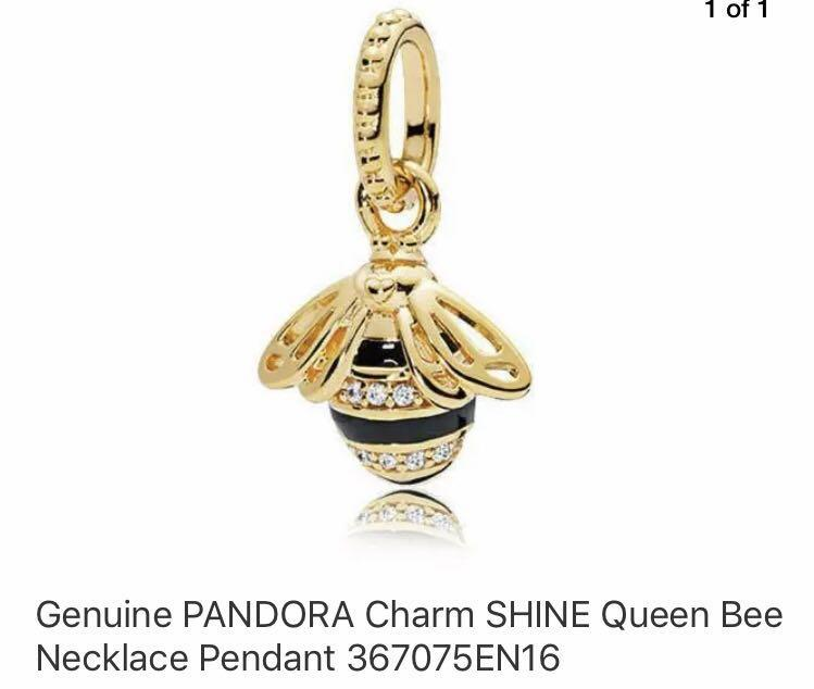 BRAND NEW - Pandora Shine limited edition Queen Bee charm in limited edition travel case