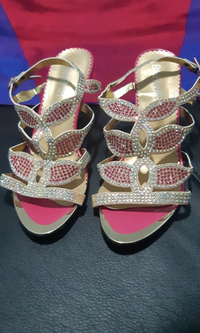 [FREE SHIPPING] Pink Sparkle Shoes