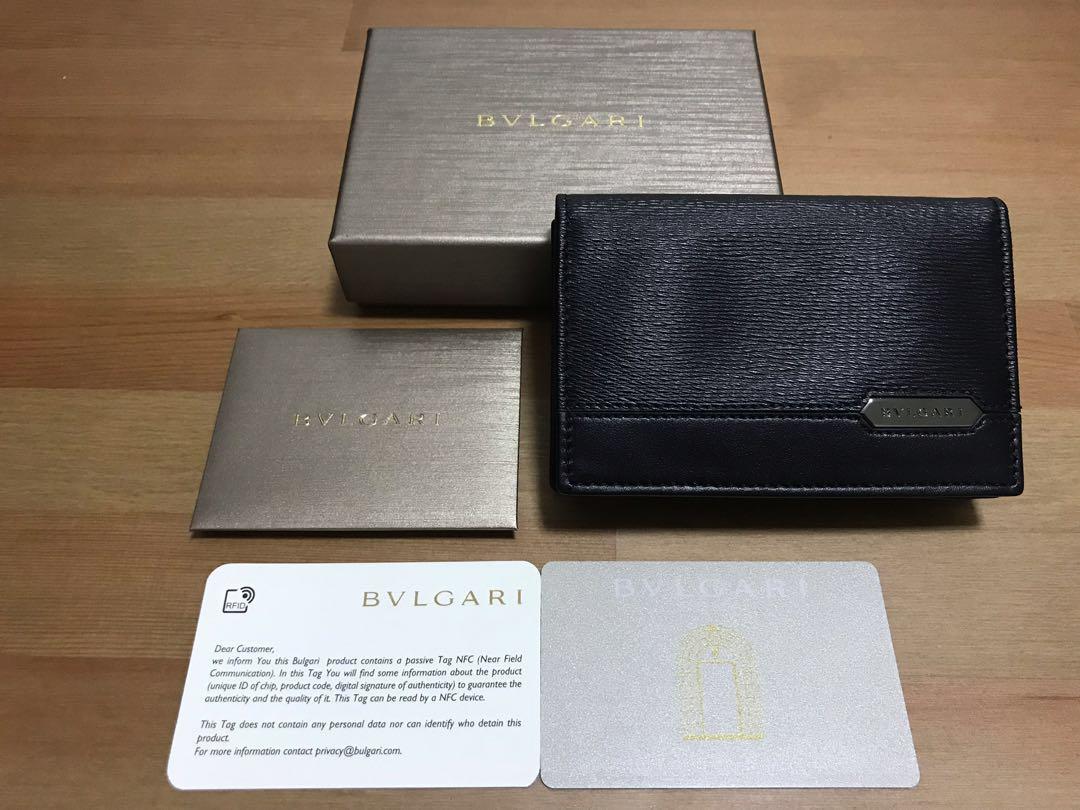 1386b81ae655 BVLGARI Men's (Card) Wallet - Black - New, Men's Fashion, Bags & Wallets,  Wallets on Carousell