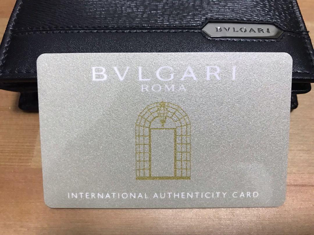 8e79a3578d83 BVLGARI Men's (Card) Wallet - Black - New, Men's Fashion, Bags ...