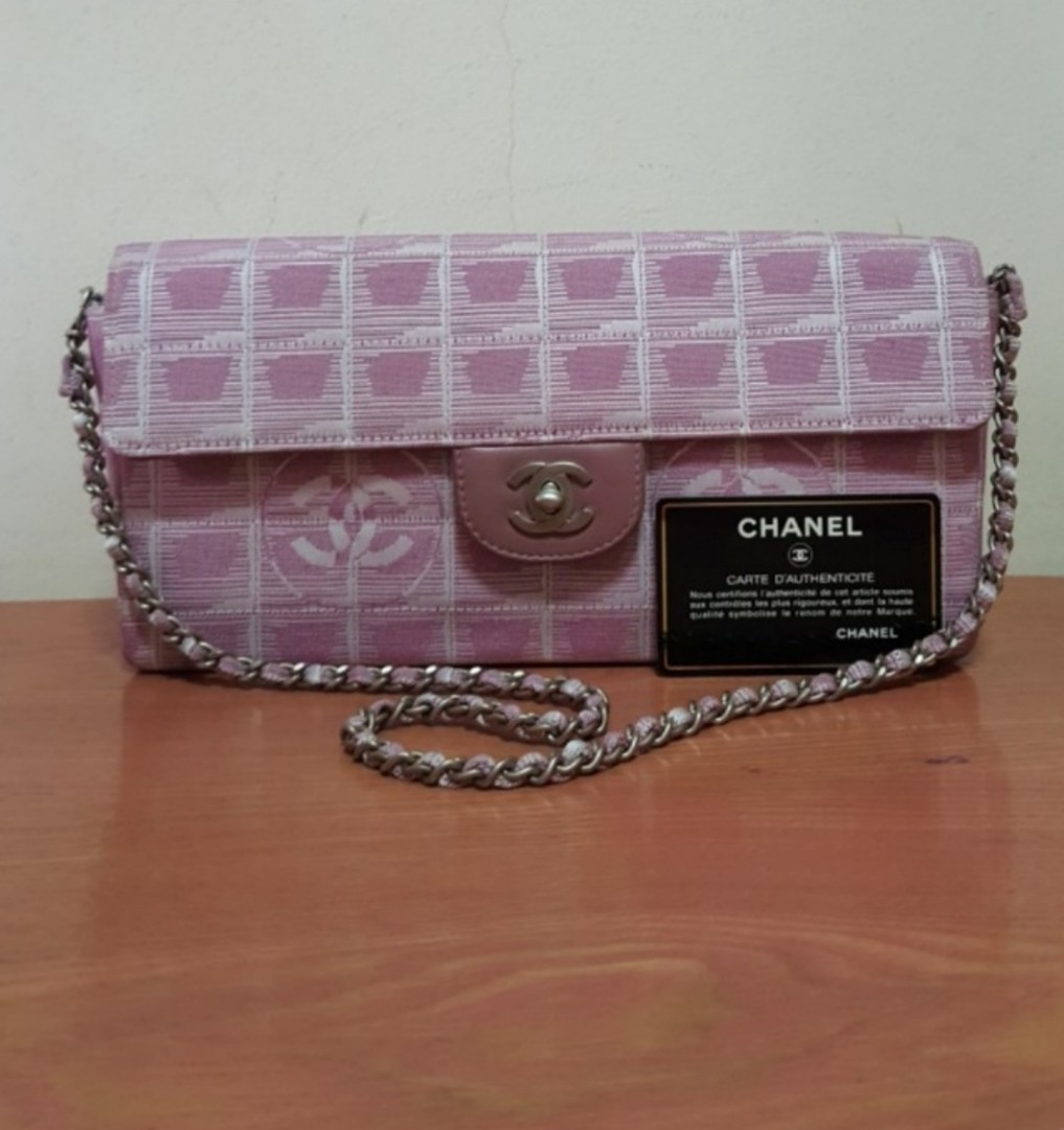 4ab395a087f8 Chanel Travel Line Flag Bag Qulited Nylon East West, Luxury, Bags ...