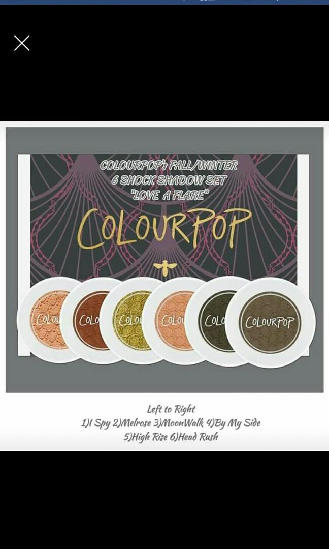 Colourpop Shadow Set & Too Faced Highlighter Palette