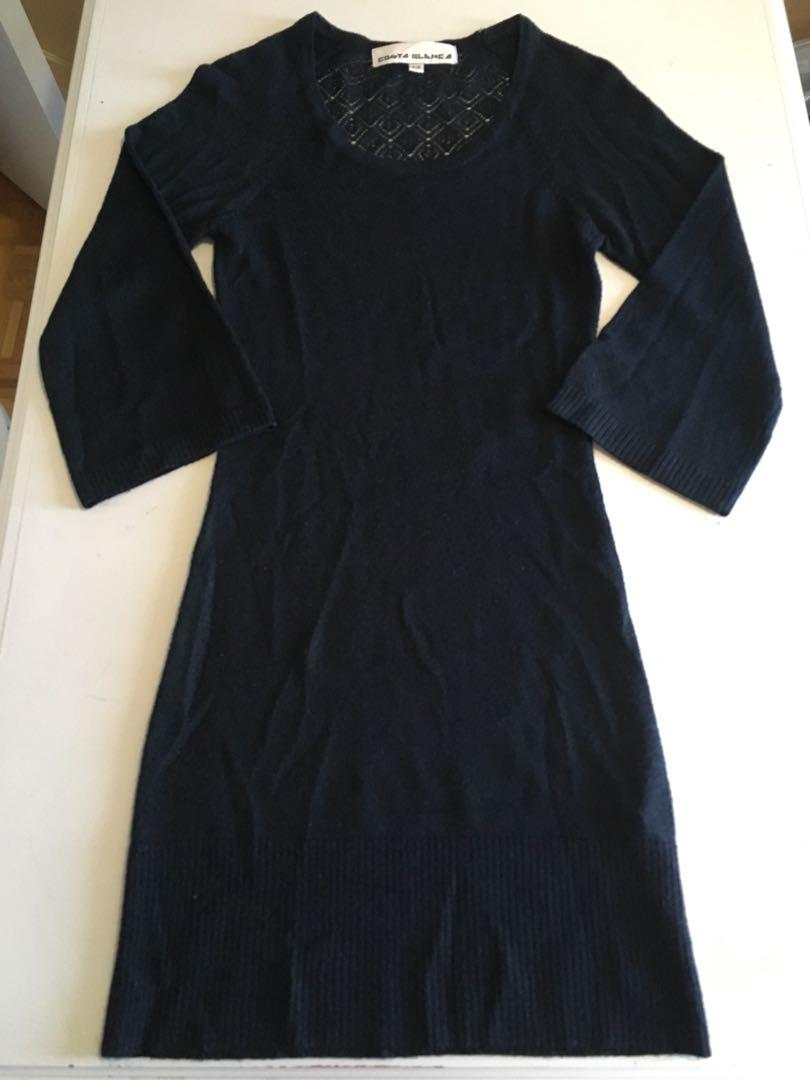 Costa Blanca Long Black Shirt with 3/4 Sleeves Size Small