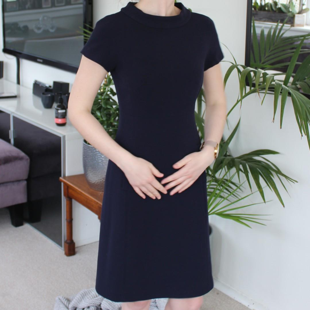 David Lawrence - Navy Dress - corporate appropriate
