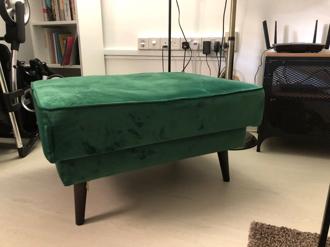 0bbbe1e376ea9 Emerald Green Foot Stool, Furniture, Sofas on Carousell