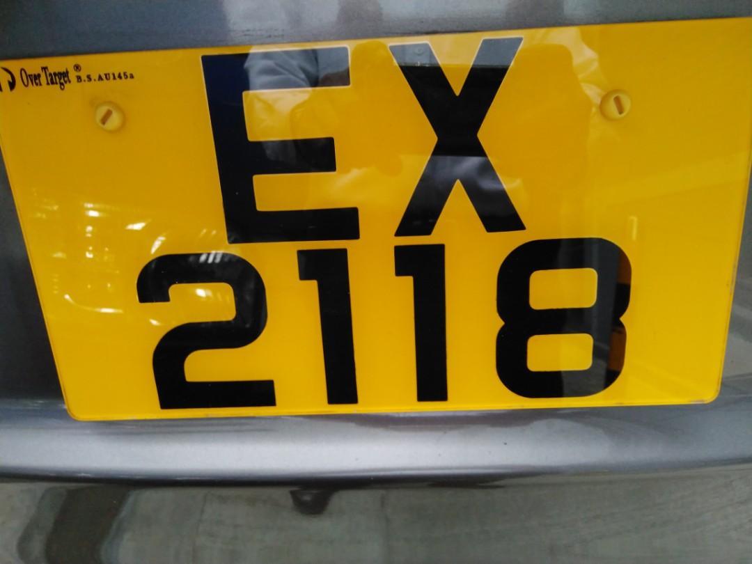 車牌EX 2118